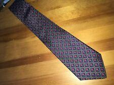 "HARVE BERNARD Necktie Diamond Print Pure Silk Classic  3 3/8 x 58""   I13"