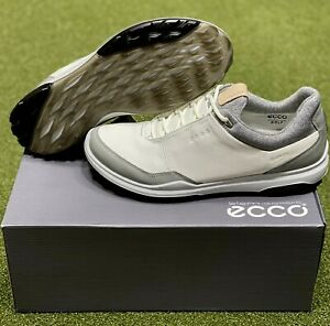 ECCO Biom Hybrid 3 Spikeless Men's Golf Shoes Size 42 White US 8.5 NEW #72342