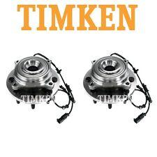 NEW Dodge Ram 2500 Pair Set of 2 Front Wheel Bearings and Hub Assemblies Timken