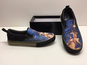 Skechers Star Wars A New Hope Solo Leia Slip on Canvas Sneakers Shoes Mens 9.5