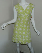 NEW Vintage Mary Muffet Original Multi-Color Sleeveless V-Neck Above knee Size 7