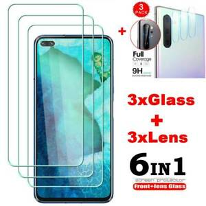3X 9H Tempered Glass Full Screen Protector + Camera Lens Glass For OnePlus Nord