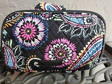 Vera Bradley Bandana Swirls Cosmetic Travel Bag Organizer Tote Paisley EUC