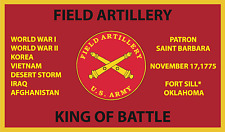 FIELD ARTILLERY KING OF BATTLE 3'X5' 2PL POLYESTER 1-SIDED INDOOR 4 GROMMET FLAG