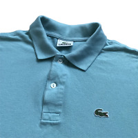 "Vintage LACOSTE Polo Shirt | Size 3 | Small S | Aqua Blue Short Sleeve 40"" Chest"