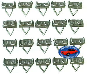"Chrysler Dodge Plymouth 7/8"" Body Side Vinyl Moulding Molding Trim Clips 20pcs N"
