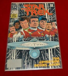 DC Comics Star Trek No.1 Oct 1989 First Issue The Adventure Begins Anew