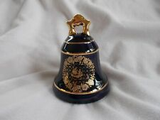 Collectible Porcelain Bell with 22 k Gold Trim from Limoges Castel France, Nice!