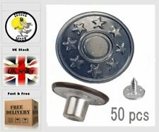 50 Rivets Fastener Stud Buttons Sewing Leather Denim Jeans Replacement Gun 17mm