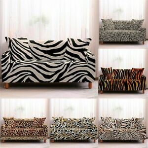 Leopard Print Elastic Wrap All-Inclusive Couch Covers For 1/2/3/4 Seater L Sofa
