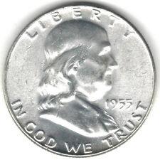 TMM* 1955 Silver Franklin Half Dollar Ch Unc