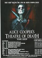 "ALICE COOPER Theatre of Death Tour 2009  UK magazine ADVERT / mini Poster 11x8"""