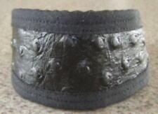Black OSTRICH LEATHER PREMIER COLLAR ITALIAN GREYHOUND MINIATURE PINSCHER