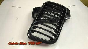 MIT CARBON LOOK FRONT KIDNEY GRILLE BMW E36 3 SERIES 1991-1996