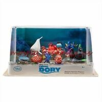 Disney Store Finding Dory Deluxe PVC Figure Playset Figurine Play Set 9 Pc Cake