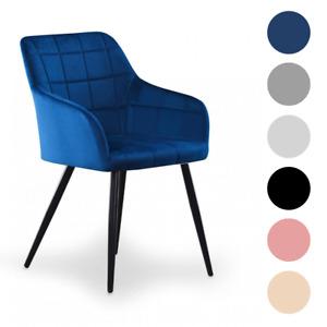 Camden Velvet Square Stitched Chair | Cushioned Padded Seating | Dining | Velvet