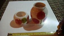 RARE -TWO PIECES OF CORNISH STUDIO  POTTERY FROM FALMOUTH COWSHED POTTERY 1980s