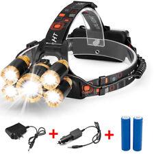 80000 LM Zoom 5-LED LED Recargable Linterna Faros 18650 nos Cargador