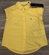 BNWT Tommy Hilfiger Geo Shiffley Girls Yellow Shirt Top Age 18-24 Month