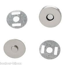 Neuf 10 Sets Fermoirs Magnétique Hématite Rond Pour Sac moins Brillant 14mm