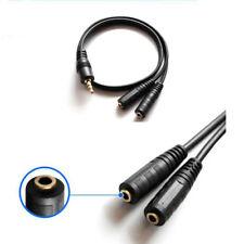 0,2m Audio Video 3,5mm stereo Y-Kabel Klinke 2xBuchse Weiche Kupplung Verteiler