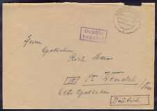 Germany, 1945, Cover from Saarbrucken 3 with box type cancel to station Wendel