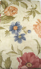 Floral on Beige Vinyl Flannel Back Tablecloths 52 x 90 Oblong