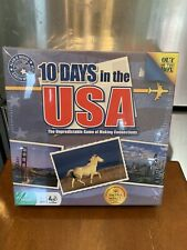 10 Days In The USA Game Factory Sealed Out Of The Box Game Stock #1011 Allen Moo