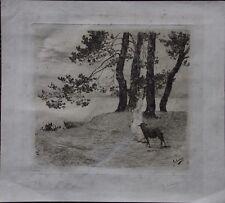 Henri Henry LEROLLE Gravure eau-forte bergère Renoir Rouart Maurice Denis ***