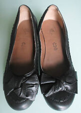 Finish the Look Women Size 7 Wider Fit Black Leather Wedge Shoes