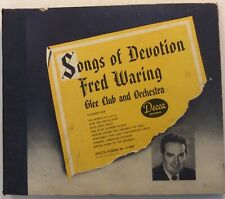 Fred Waring – 78 rpm Decca Album A-489: Songs of Devotion V+/V+ 1945 release