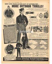 1959 Boy Scouts Autumn Uniforms Clothing w/prices VTG PRINT AD