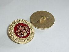 6 Stück Metallknöpfe Knopf Knöpfe Wappenknopf 23 mm gold NEU rostfrei 0163.1