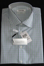 Calvin Klein Formal Shirt Size 43 Sleeve 92 Check Slim Fit Business CK New 1.1
