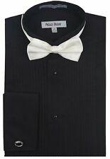 Mens Tuxedo Shirt Regular Fit Wingtip Collar French Cuff Formal Shirt - Colors