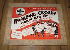 Hopalong Cassidy Official Party Kit Western Toy Rare 99.9 % Complete Near Mint
