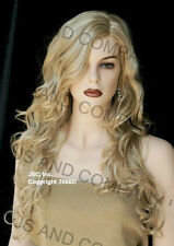 EXTRA LONG Curls Golden Blonde Mix Side Skin top WIGS JSOB 24-613