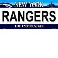 New York State Rangers License Plates / NOVELTY SIGNS AND PLATES (LP-2296)