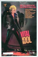 Billy Idol 1987 Vital Idol Original Video Promo Poster