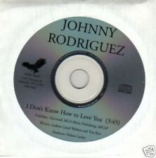 (687P) Johnny Rodriguez, I Don't Know How To L..- DJ CD