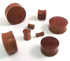 PAIR _ Hand Carved SABAWOOD Organic Flesh Ear Tunnels PLUGS