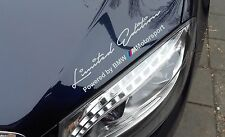 2 x Limited edition M Motorsport Decal Sticker fits on BMW M series colour:White