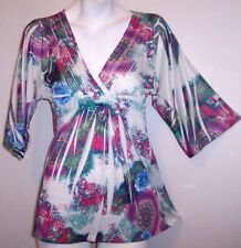 Simply Irresistible Top S Floral Stretch Knit Tunic Shirt Blouse Women's Small