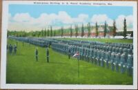Annapolis, MD 1930 Postcard: Midshipmen at Drill / Drilling - Maryland
