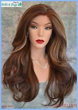 Swiss Lace Front Wig 4X4 Silk Top Handtied Heat Safe  FS8.27.613 Long Thick 1229
