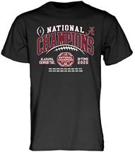 The Blue Brand NCAA Mens Alabama Crimson Tide National Champs T Shirt 2020-2021