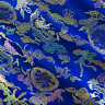 Blue/Multi Chinese Brocade, Fabric By The Yard