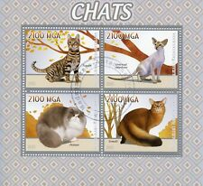 Madagascar 2015 CTO Cats Toyger Persian Somali Oriental Shorthair 4v M/S Stamps