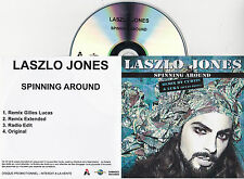 CD COLLECTOR IN PLASTIC SLEEVE LASZLO JONES SPINNING AROUND REMIX 4T CURTIS/LUCA