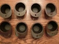 """ROWOCO CAST IRON POPOVER BAKING CUPS #1588 Set of 8 Size 2.25"""" x 1.75"""""""